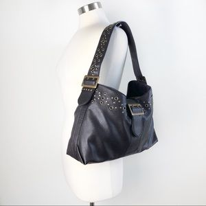 Ann Taylor Loft | Boho Stud Vegan Leather Bag